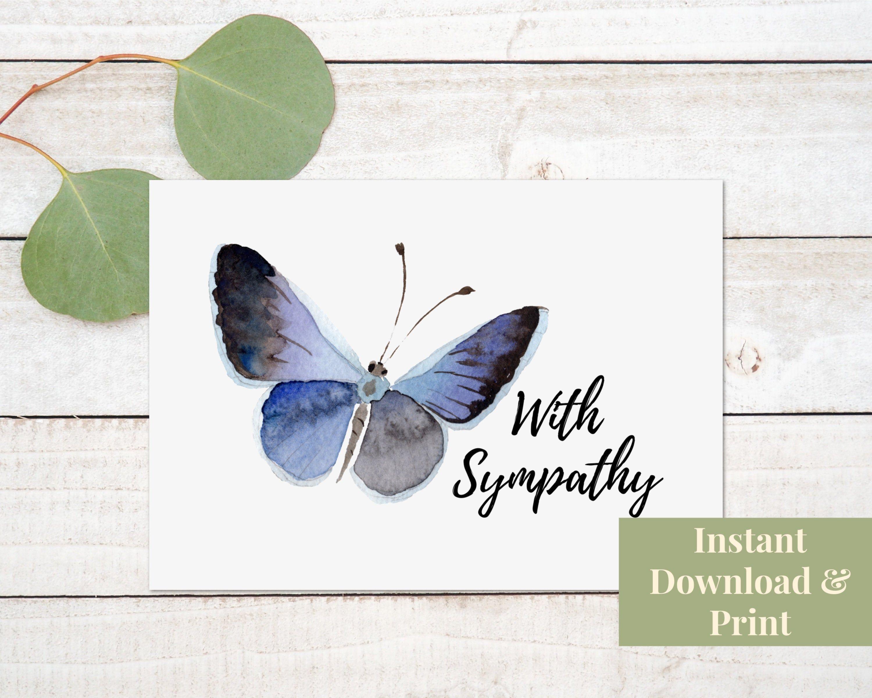 Condolence Card Printable Sympathy Card Printable With Etsy Sympathy Cards Condolence Card Tulips Card