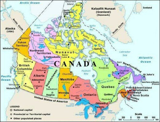 Rocky Mountains Map Of Canada Bridge That States Canada Map | Canada map, North america map