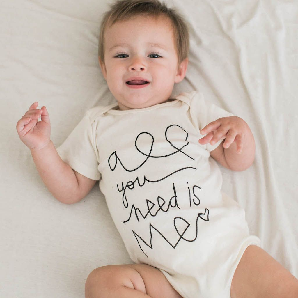 All You Need is Me - Organic Onesie - Black | BABY BOY ...