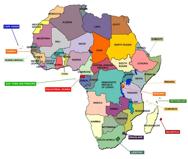 Image result for map of africa