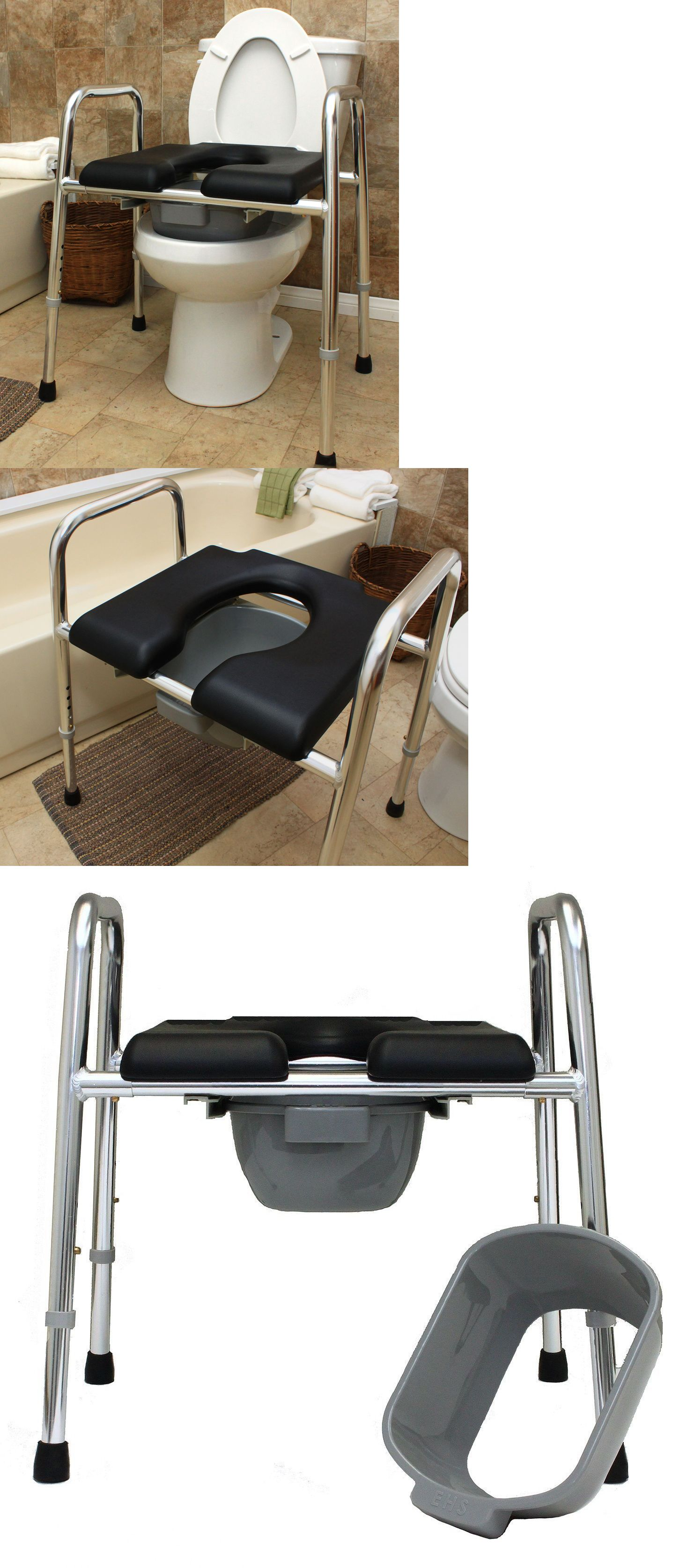 Shower and Bath Seats: Eagle Health 74654 Padded Shower Chair Raised ...
