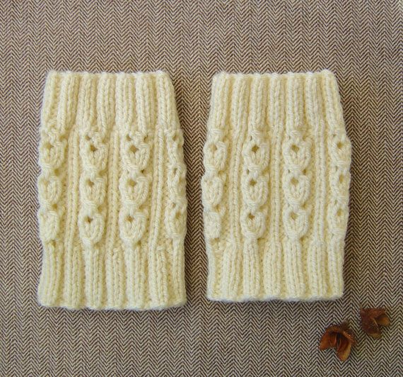Quick and Easy Knitting PATTERN Lace Stitch Boot Cuffs Boot Tops ...