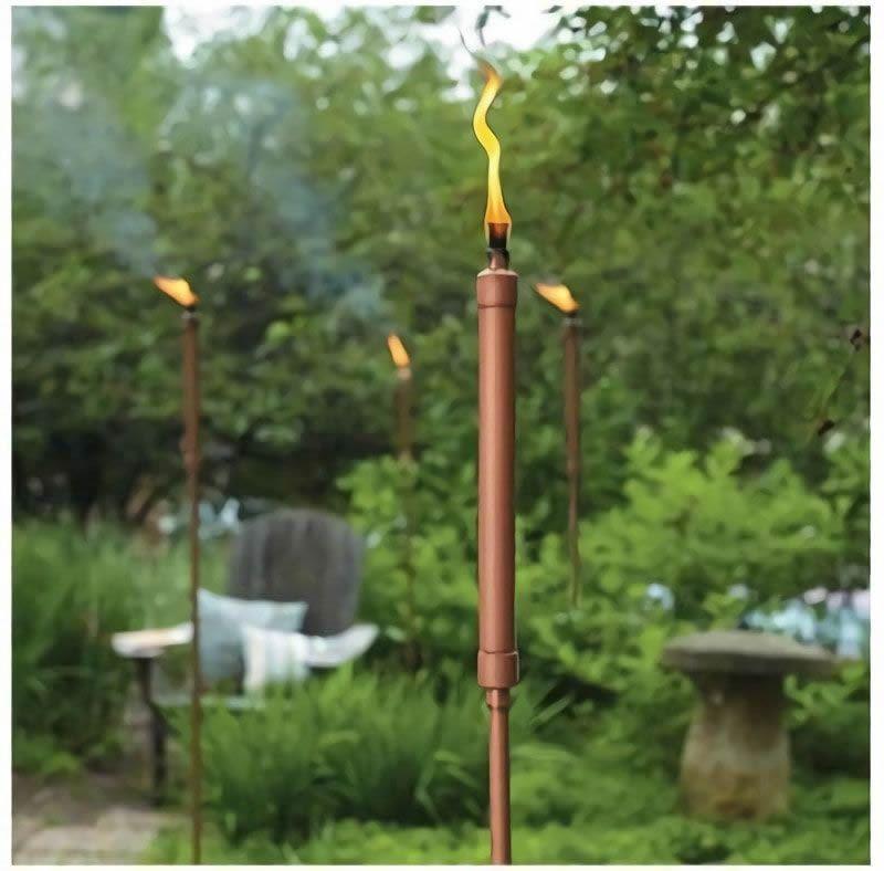 Antorchas de cobre para nuestro jard n o patio dise o de for Antorchas de jardin