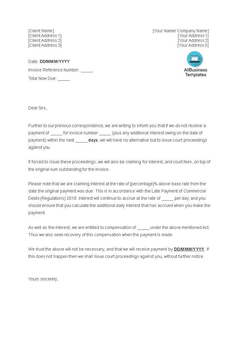 Bent U Op Zoek Naar Een Verzoek Om Betaling Vanwege Een Betalingsachterstand Download Dan Dez Business Letter Template Letter Templates Formal Letter Template