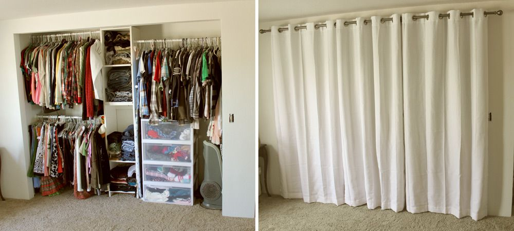Best Closet Door Ideas To Spruce Up Your Room Closet Curtains