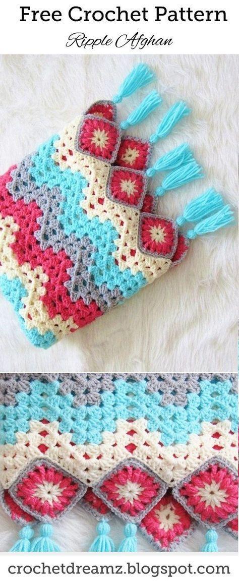 Easy Crochet Ripple Afghan - A Modern Take | blanket | Pinterest ...