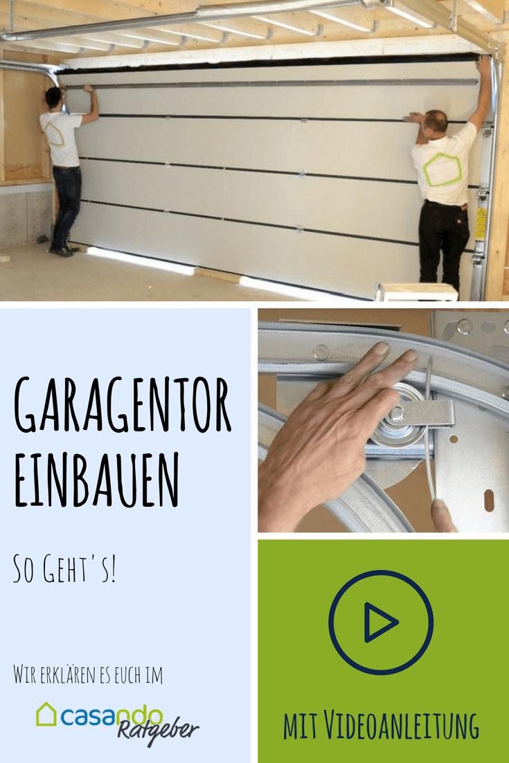garage: sektionaltor einbauen | sektionaltor | pinterest