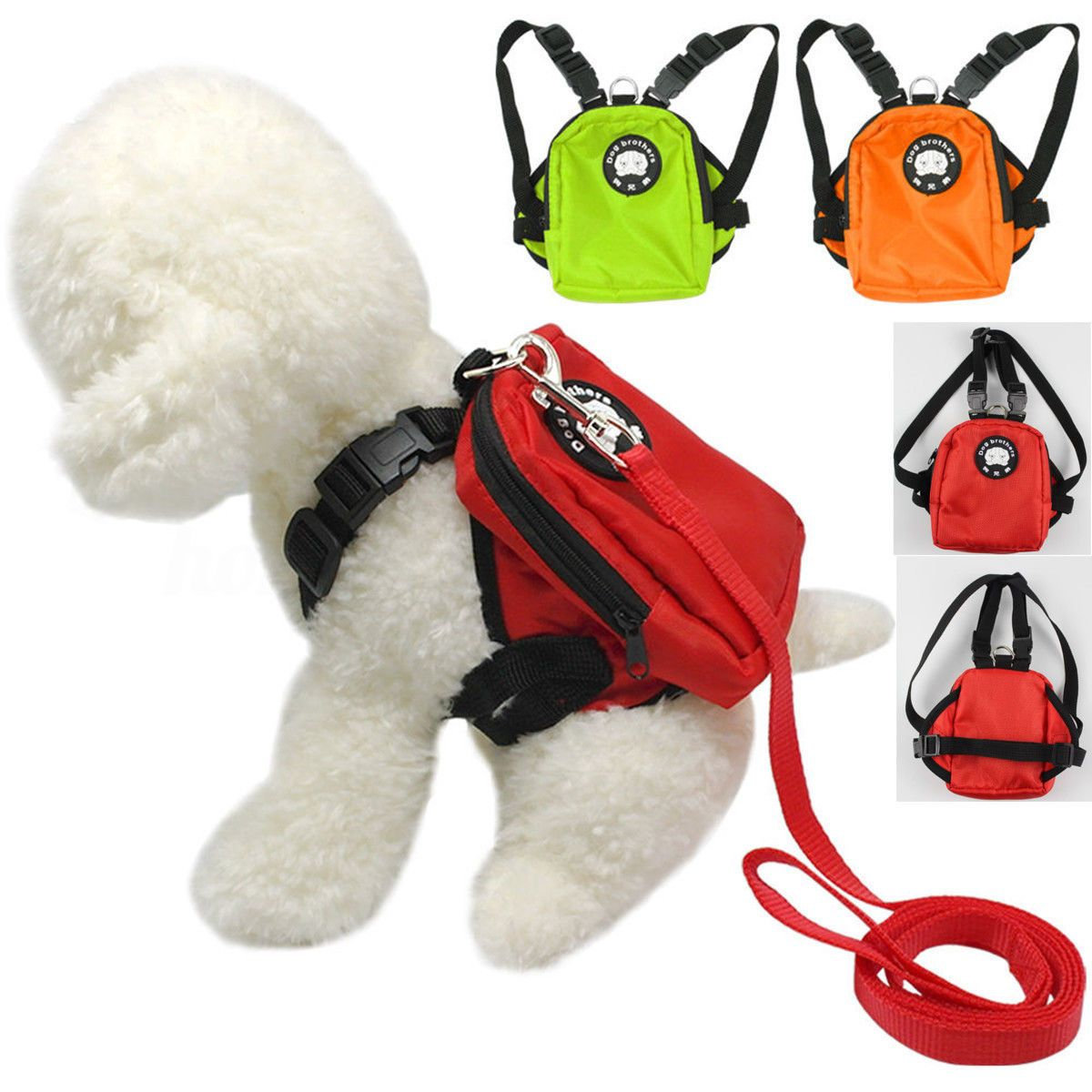6 46 Cute Puppy Dog Harness Bag With Leash Pet Backpack Doggie