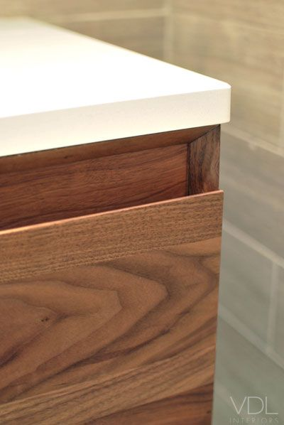 Counter Top And Drawer Finger Pull Detail Joinery