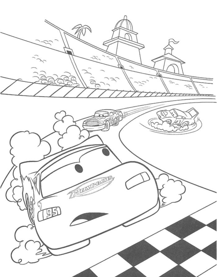 McQueen Is About To Cross The Finish Line Coloring Page From Disney Cars Category Select 27252 Printable Crafts Of Cartoons Nature Animals