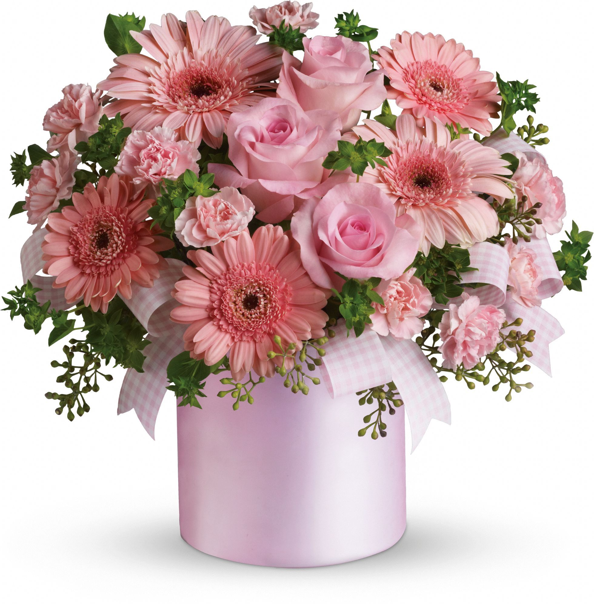 Telefloras lovely lady pink flowers flores pinterest flower isnt she lovely isnt she wonderful perfect for celebrating new baby girls and new moms this pretty arrangement has feminine charm to spare izmirmasajfo Image collections