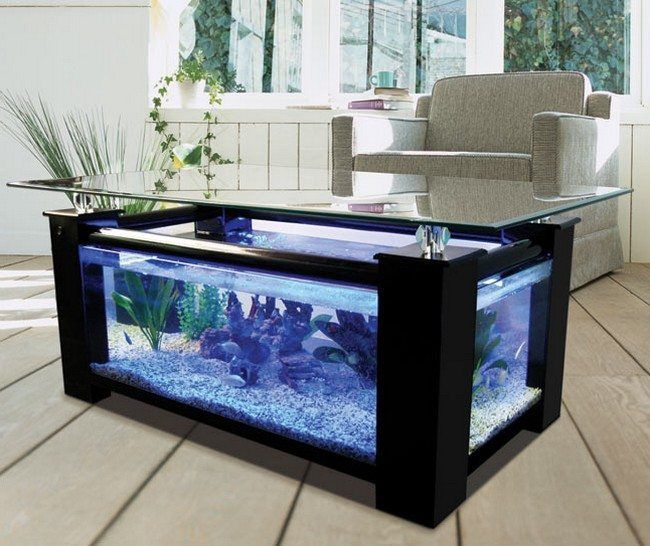 Superb Transform The Way Your Home Looks Using A Fish Tank. Unique Coffee TableBlack  ... Awesome Design