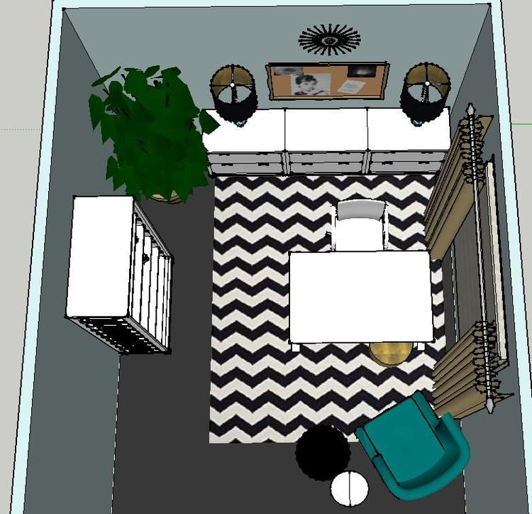 Design Plan Free Giveaway A Trendy Glam Home Office Designed