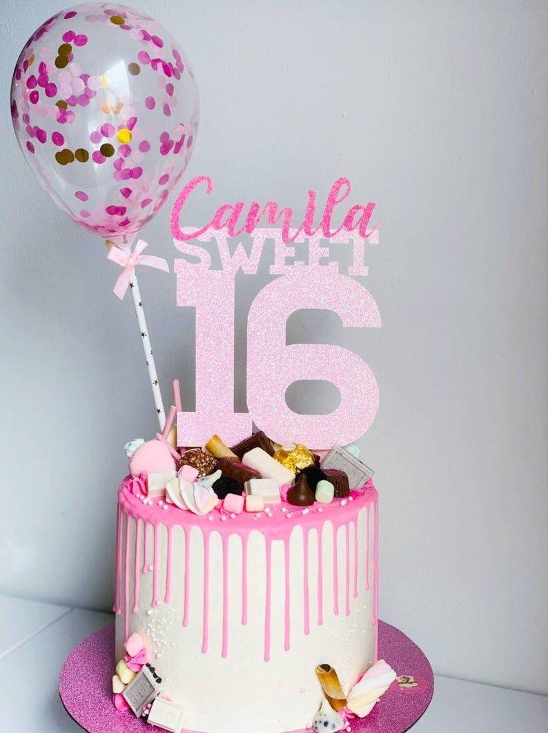 Sweet Sixteen Cake Topper Sweet 16 Party Sweet Sixteen