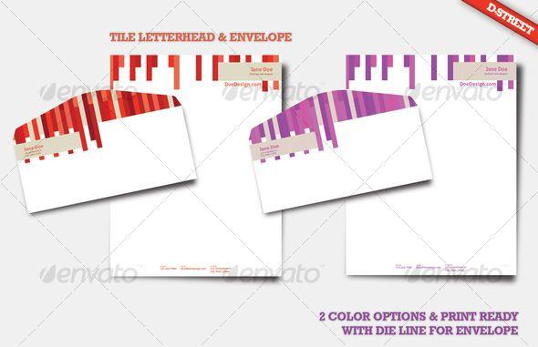 Tile letterhead envelope letterhead envelopes and business cards tile letterhead envelope creative business cards download here https reheart Choice Image