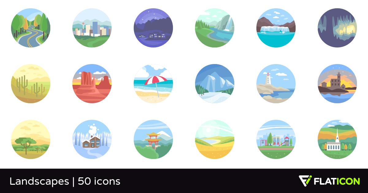 50 premium vector icons of Landscapes designed by Freepik