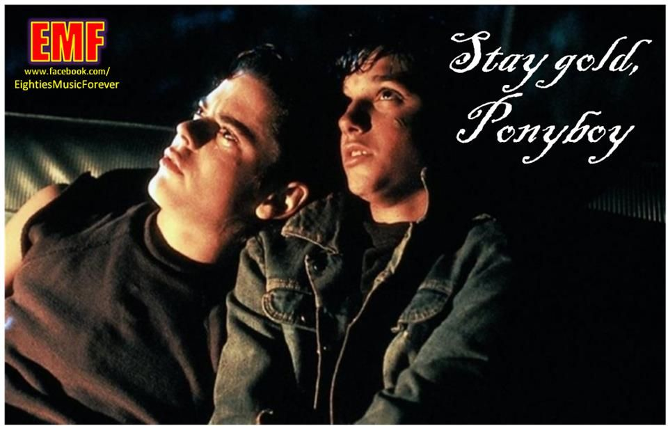 Stay Gold Ponyboy The Outsiders The Outsiders Imagines Outsiders Movie Stay gold is a reference to the poem by robert frost that ponyboy read to johnny while the pair hid out in the abandoned church. stay gold ponyboy the outsiders the