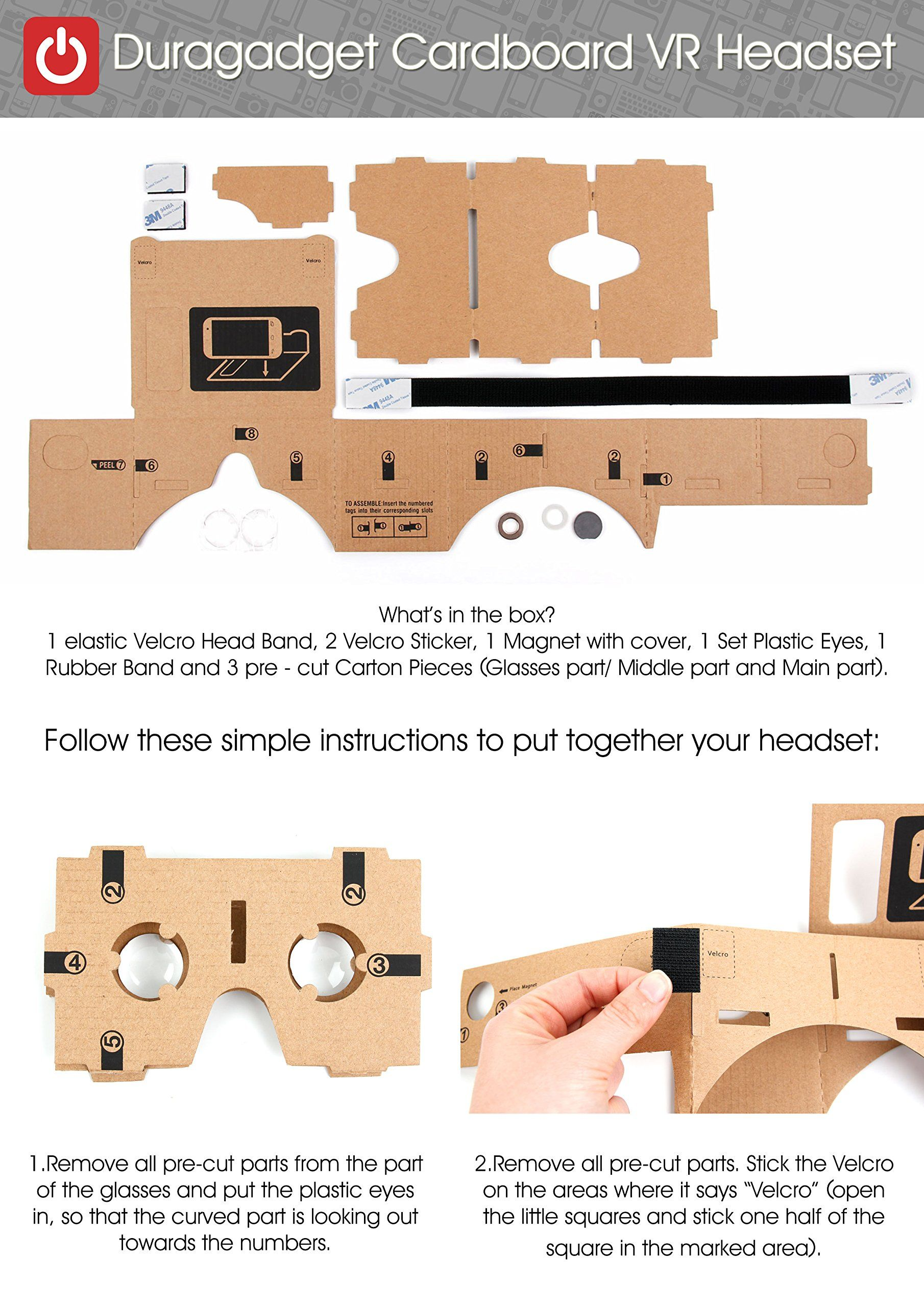 Google Cardboard Virtual Reality Headset Compatible With