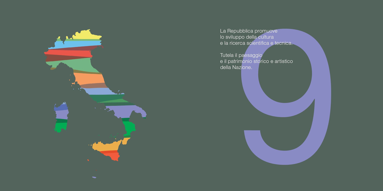 I dodici principi fondamentali: La Costituzione italiana a colori. Articolo 9 by Enrico Delitala e Lorenzo Gaetani @ lowercase