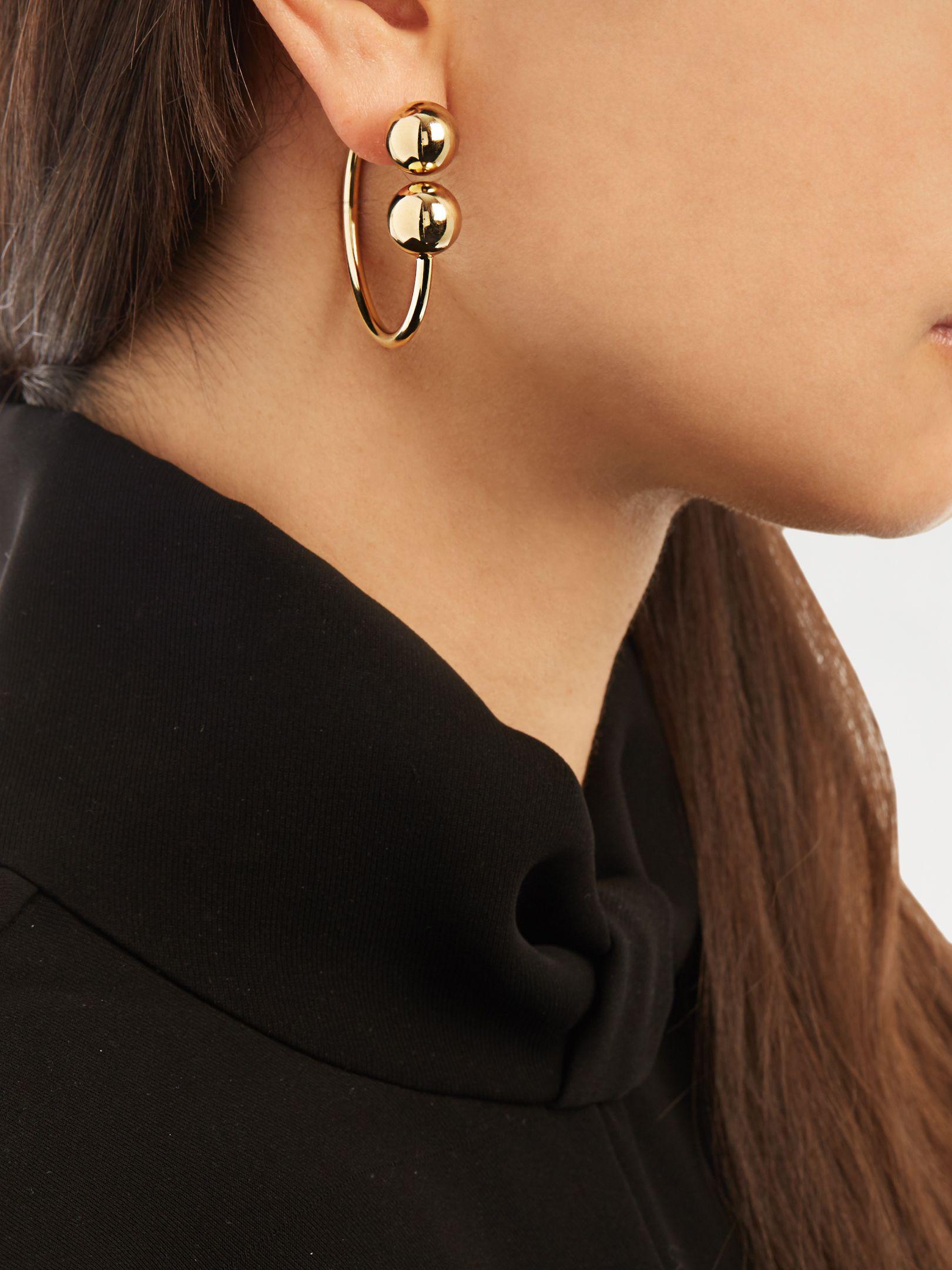 J.W.Anderson Sphere drop gold-plated earrings ULTpkx
