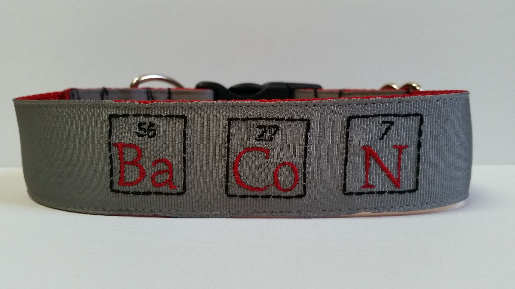 Bacon periodic table inspired embroidered dog collar products bacon periodic table inspired embroidered dog collar gamestrikefo Gallery
