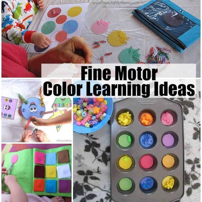 Fine Motor Color Learning Ideas For Toddlers Preschoolers Preschool Fine Motor Activities Preschool Fine Motor Fine Motor Activities
