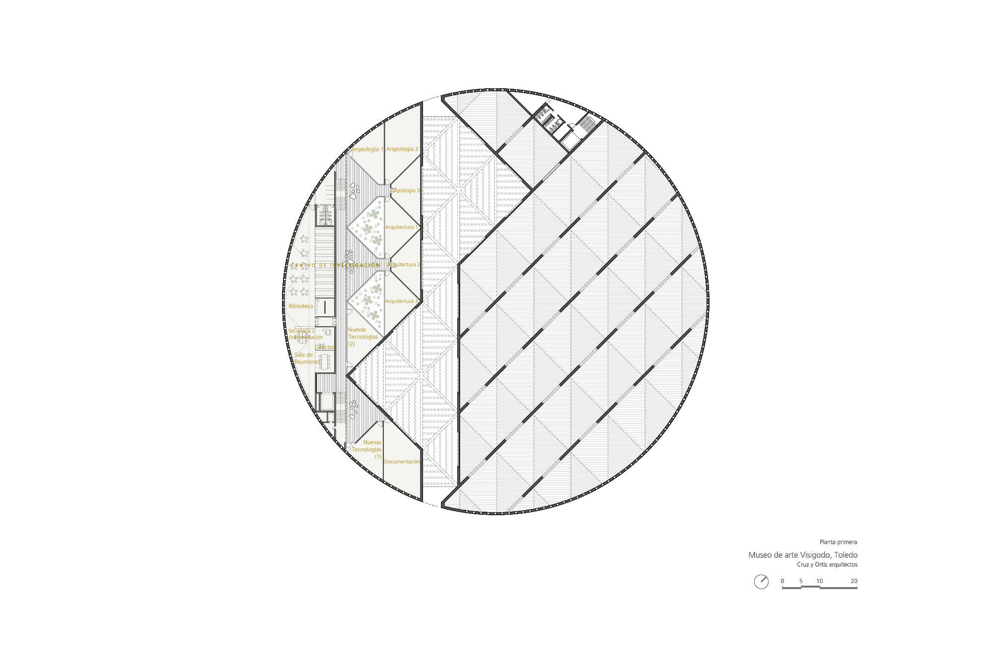 Arte_Visigodo_Toledo_Diseño-plano-Cruz-y-Ortiz-Arquitectos_CYO_11-planta-primera