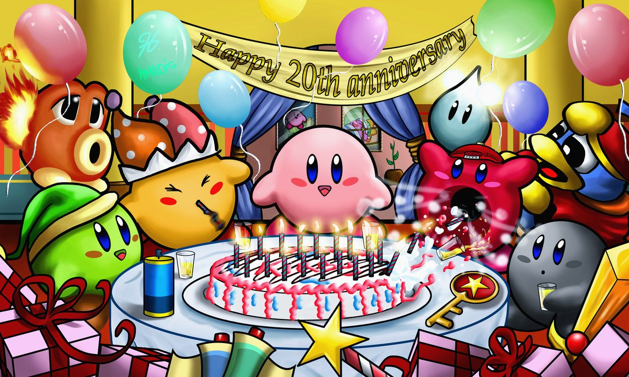 Kirby 20th Anniversary Party By Amadis33 On DeviantART