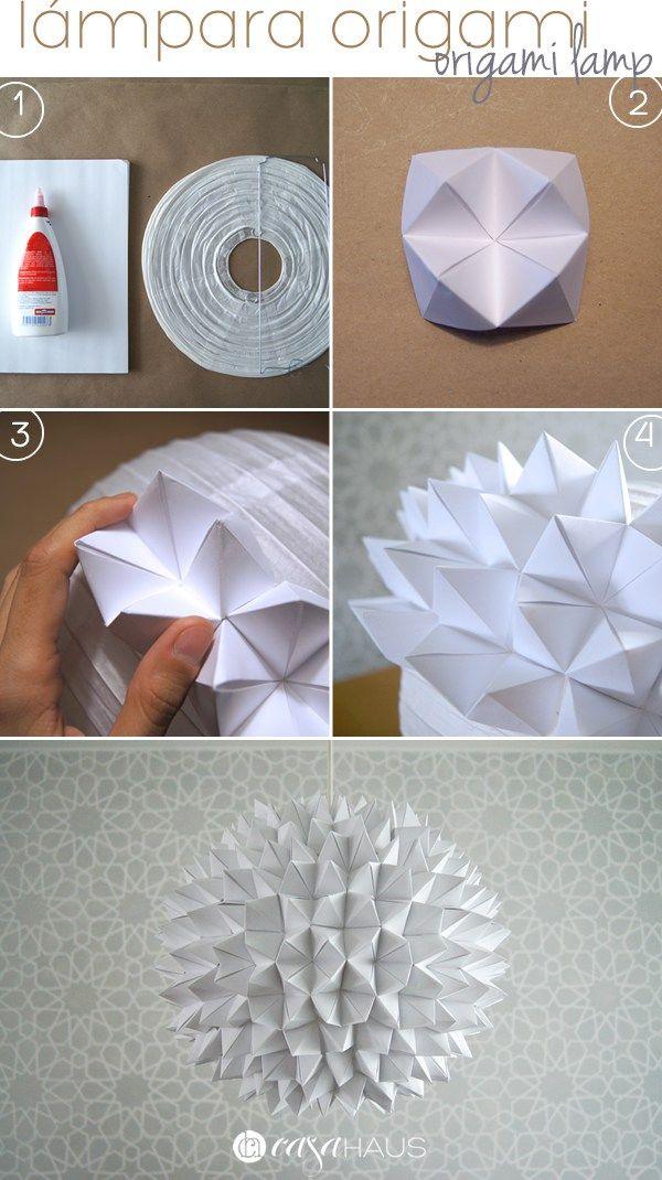 DIY Cómo hacer una lámpara de origami Origami, Craft and Scrapbook