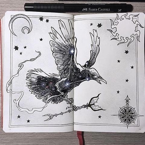 Just one of the many impressive pieces from @_picolo's constellation animal series in his #Leuchtturm1917 #sketchbook!