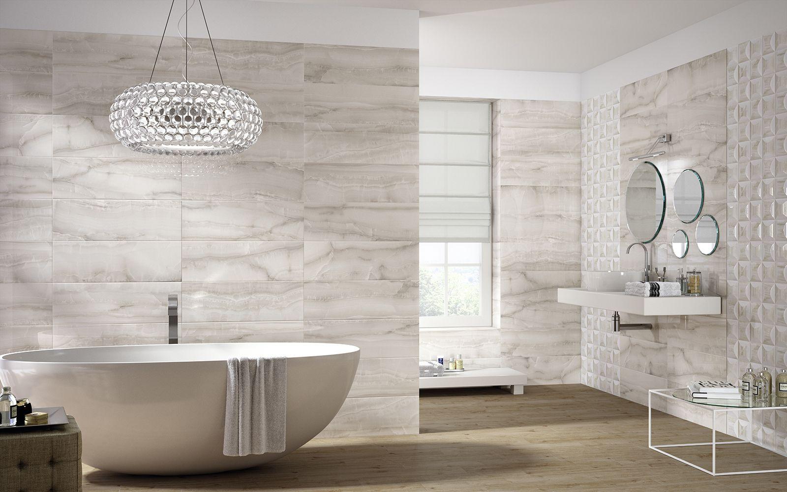 Onix - marble-look bathroom wall tile covering | Baderomsfliser ...