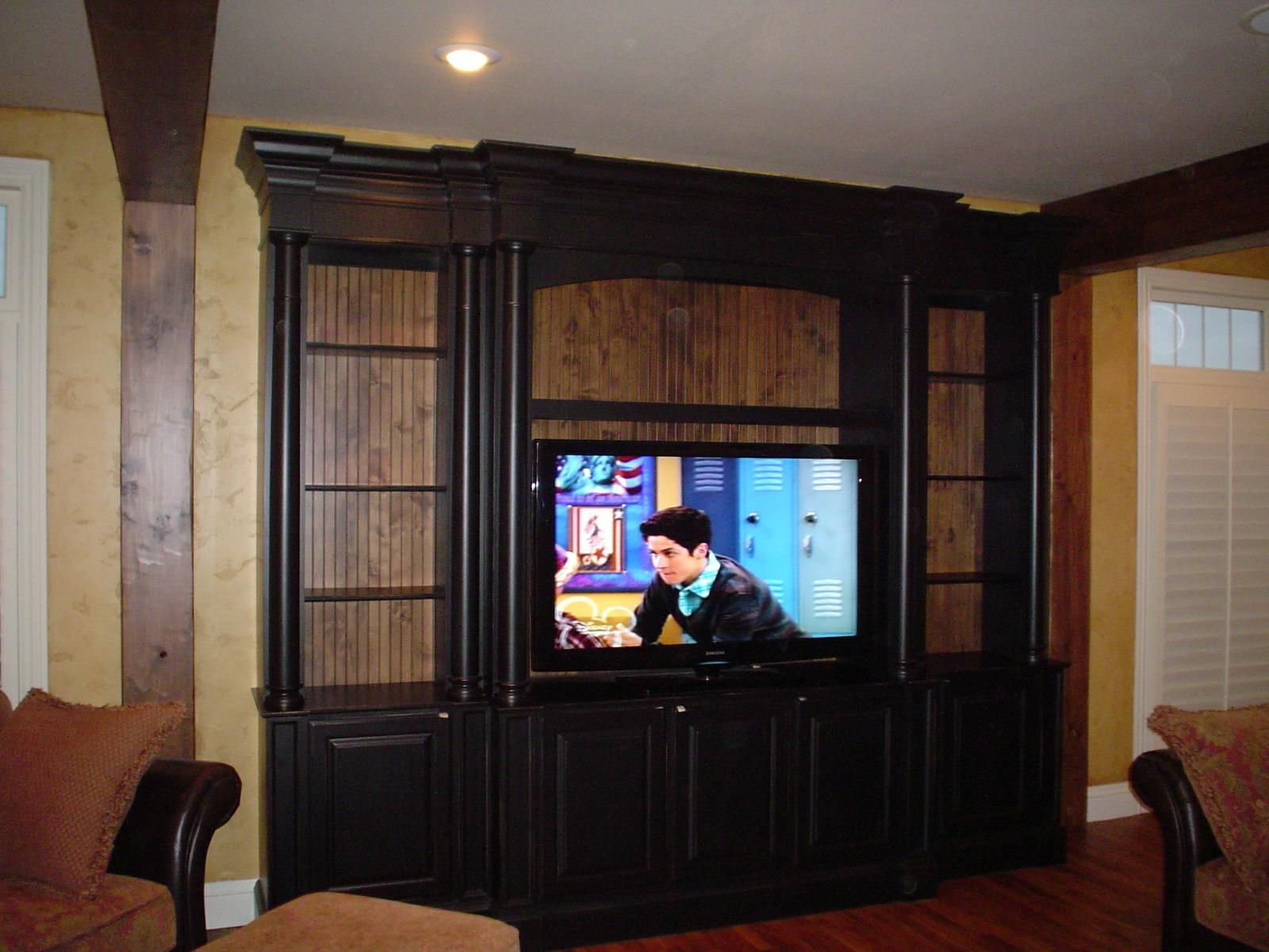 Black Entertainment Center Wall Unit custom made black entertainment center | nannys new house redo