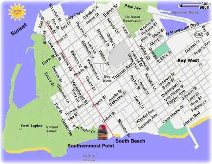 Key West Hotels Map Interactive Street Hotel Maps Print Key