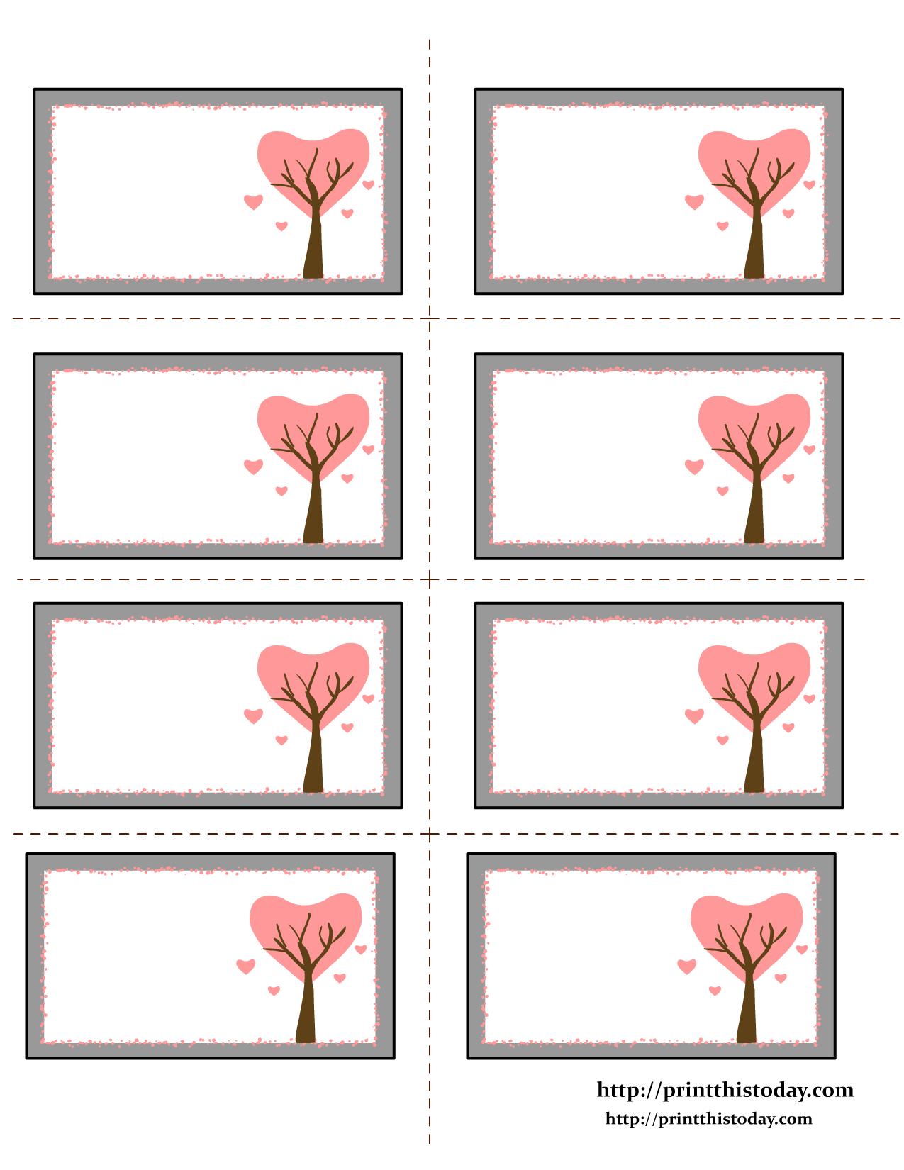 Love Tree Valentine Labels | -♥- Varied Valentines -♥- | Pinterest