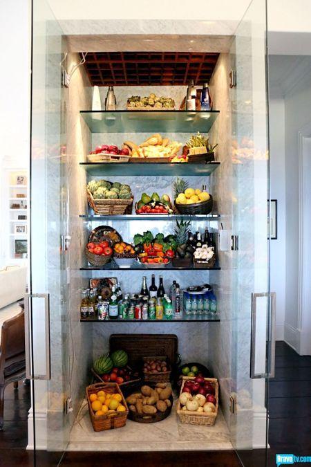Yolanda Foster's (RHBH) kitchen refrigerator