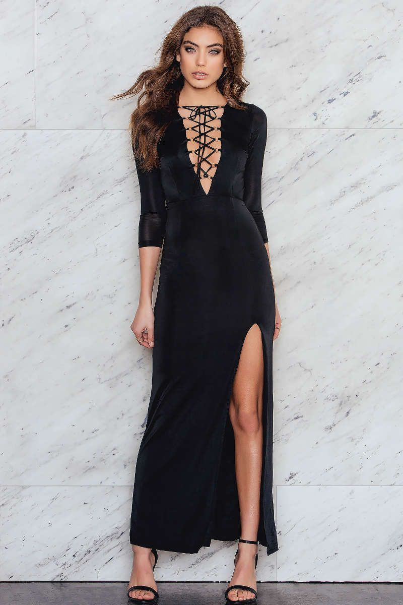 Lace up front maxi dress fancy pinterest maxi dresses and fancy