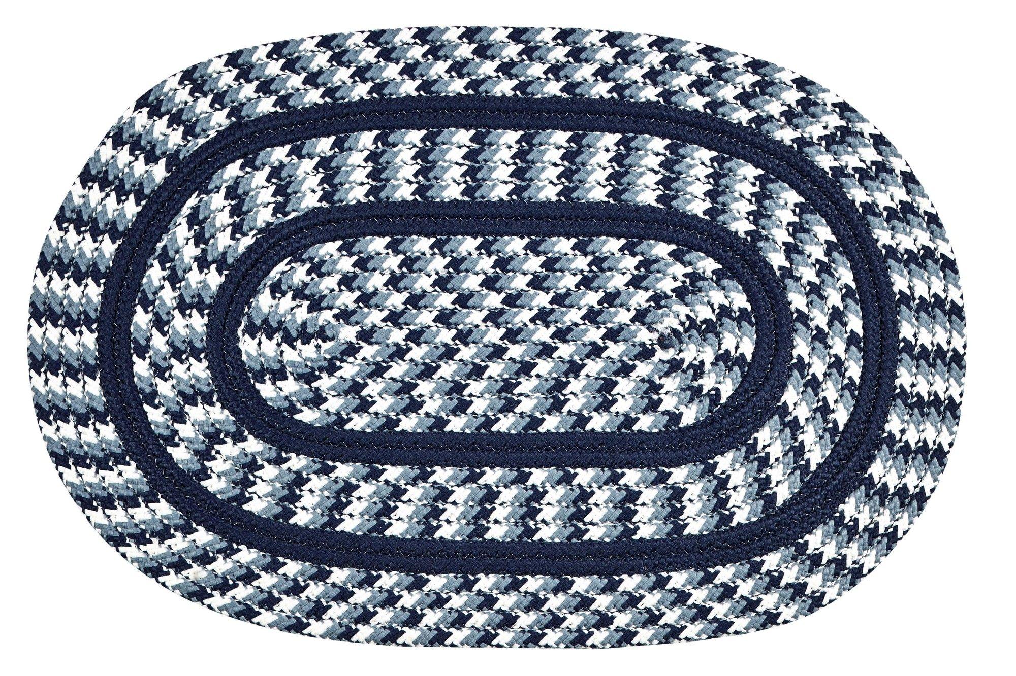 Crescent Braided Navy Indoor/Outdoor Area Rug