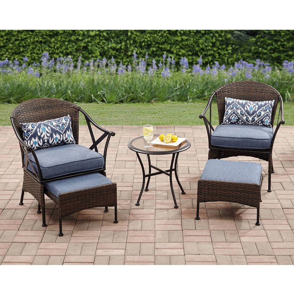 Patio Furniture Set 5 Pc Rattan Wicker Outdoor Table Garden Deck