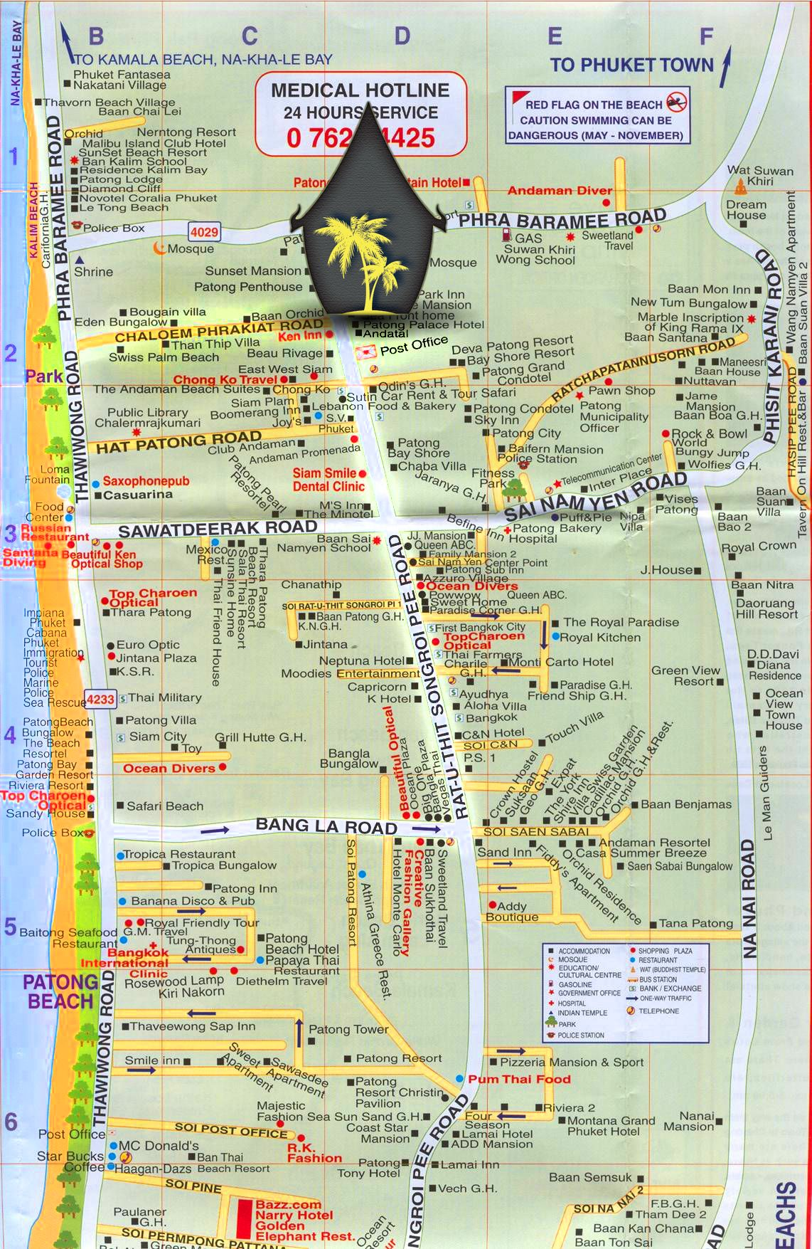 Locate Us On Patong Map