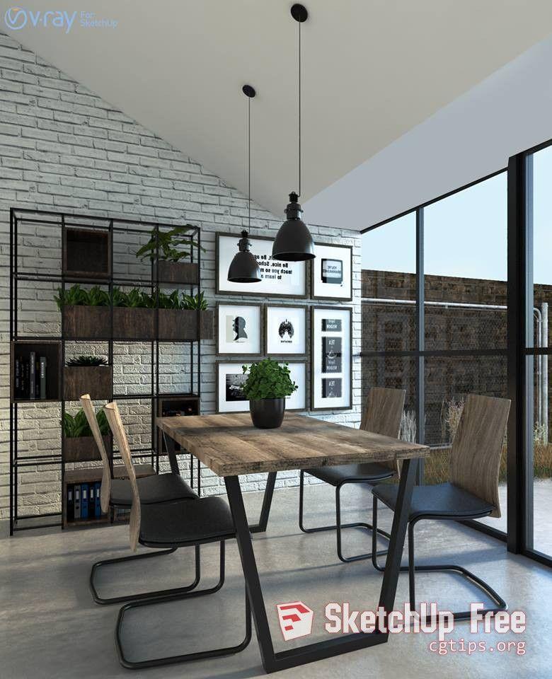 822 Interior Diningroom Sketchup Model By Jecky Adi Aryanto Free