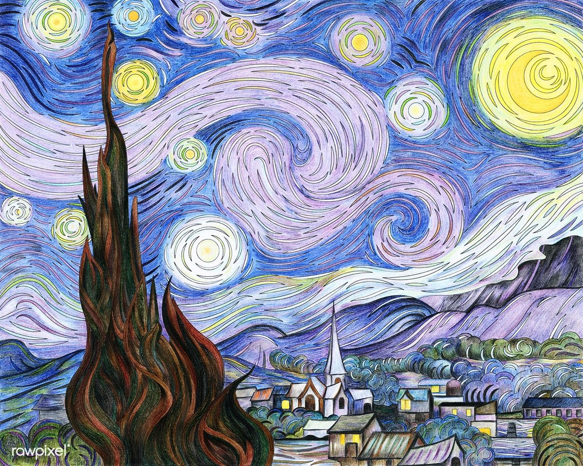 The Starry Night (1889) by Vincent van Gogh: adult ...