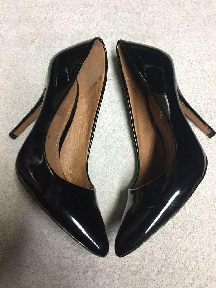 5a005246f8e Aldo Women s Black Leather Slip On High Heel Dress Shoes Size 37 US 7 M