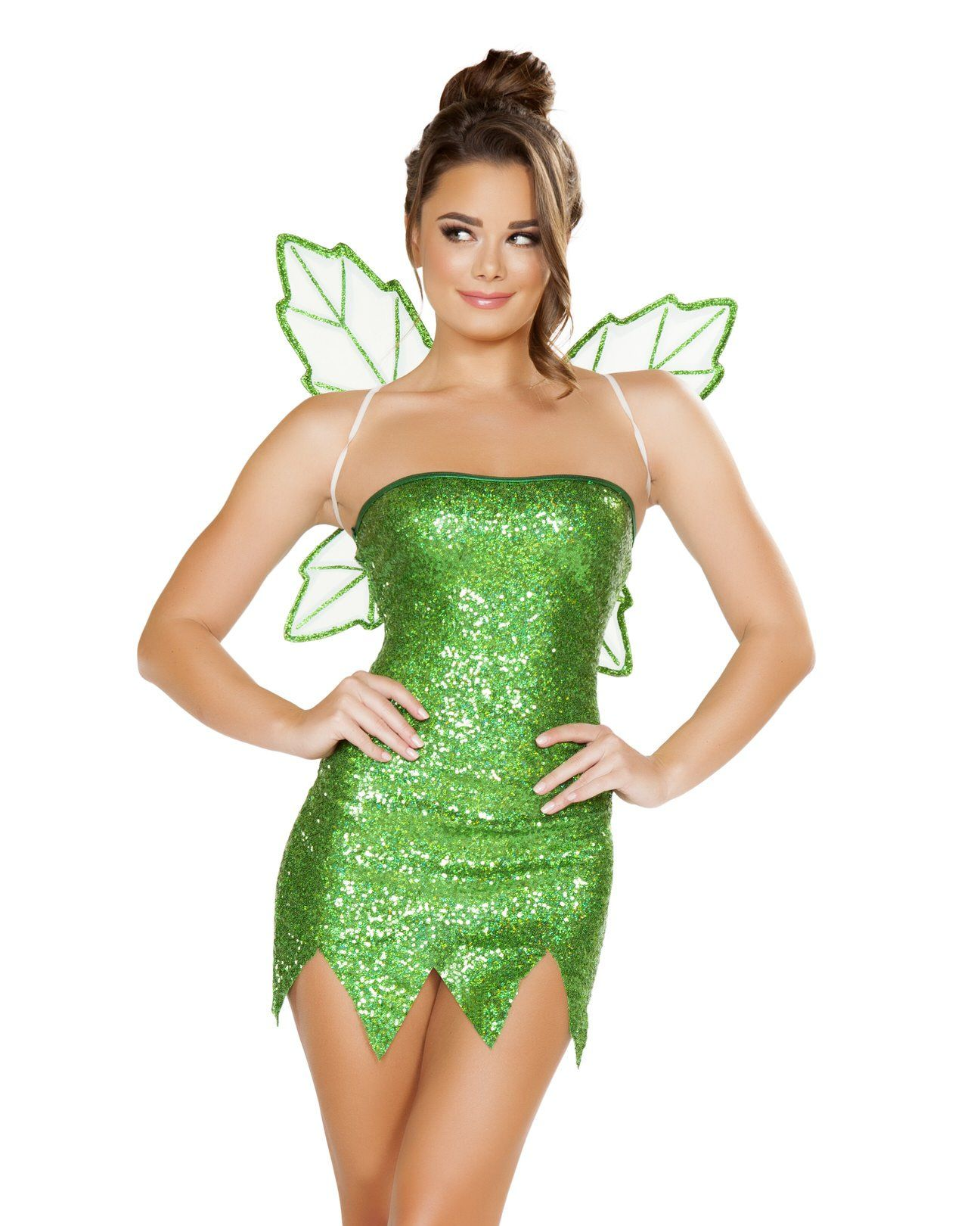 Sequin Tinkerbell Fairy Dress Wings Costume Fairy Halloween Costumes Tinkerbell Halloween Costume Costumes For Women [ 1620 x 1296 Pixel ]