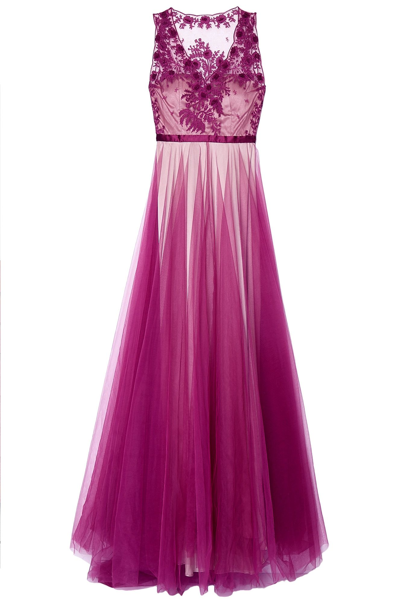 Magenta Prarie Embroidered Gown by Catherine Deane | dresses ...
