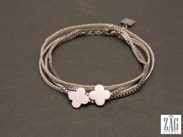 Bracelet zag fleur