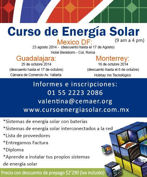 Curso Energia Solar En Casa Curso De Energia Solar Energia Solar Sistema De Energia Solar