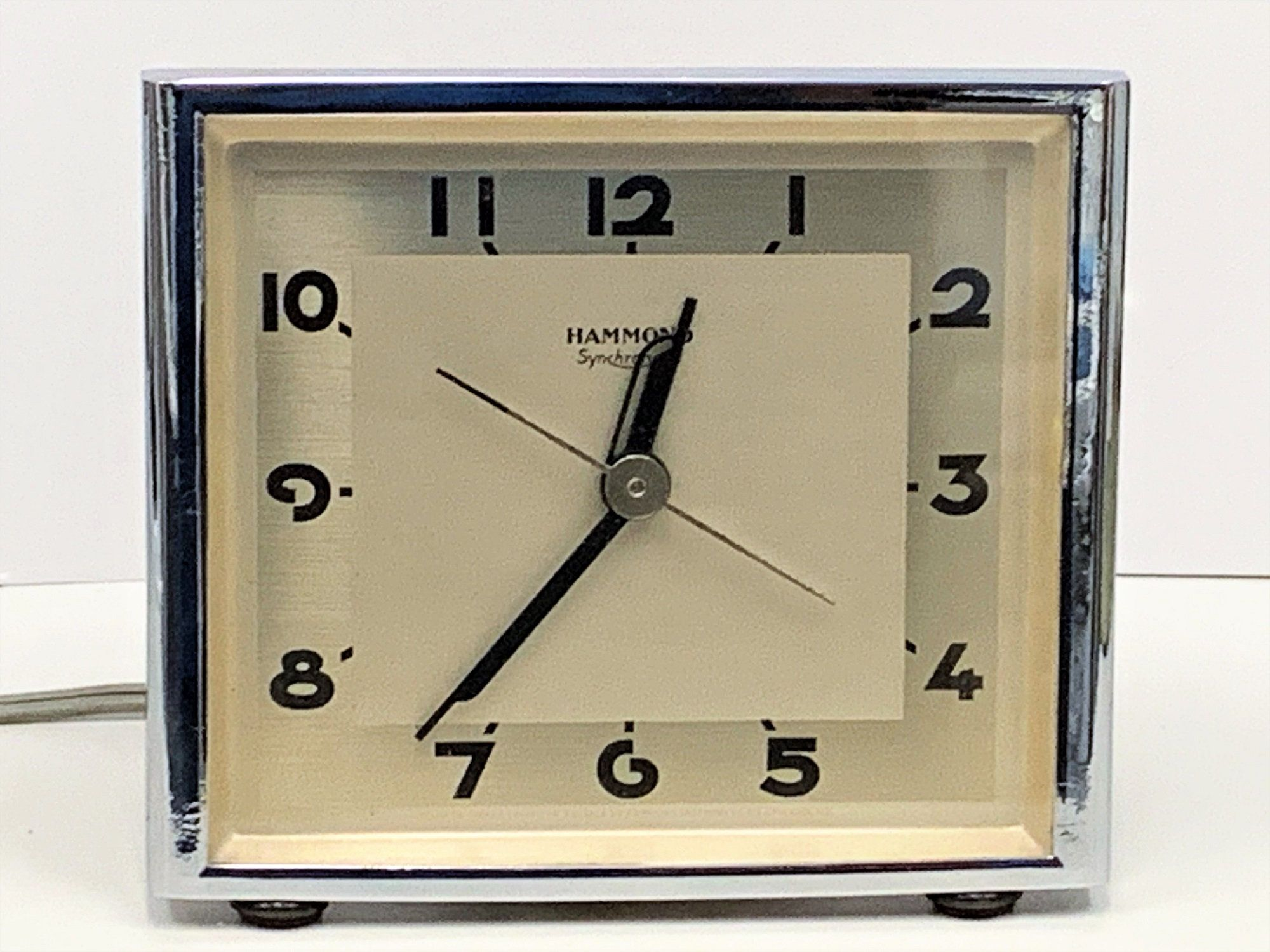 Antique Hammond Synchoronous Electric Alarm Clock Era 1930 S Collectible Rare 87 Years Old Clock Great Precision 5 25 X 4 5 11 With Images Old Clocks Clock Antiques