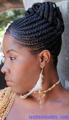 Cornrow Hairstyles cornrows into a fishtail braid Cornrow Bun6 Last Hair Models Hair Styles