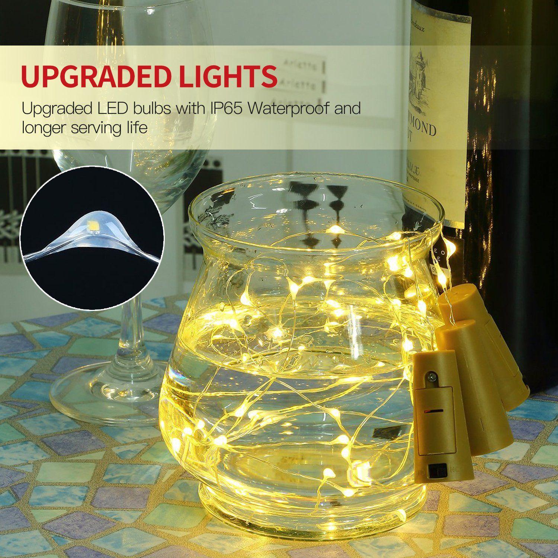 Decorations /& Betus 10 Pack Wine Bottles Cork String Lights Battery Powered