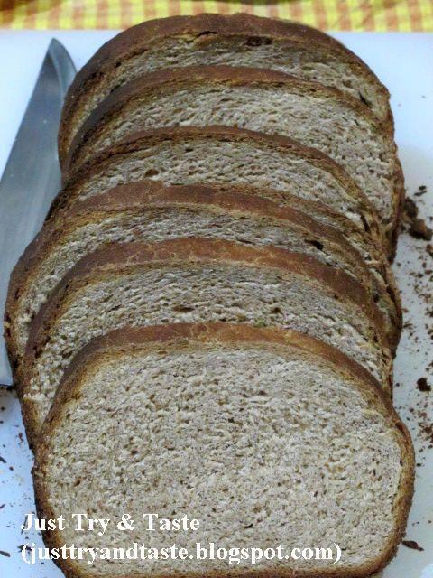 Resep Homemade Roti Gandum 100 Tepung Gandum Utuh Rotis Penyajian Makanan Makanan